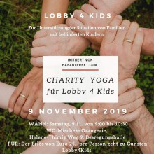 Charity Yoga für Lobby4Kids