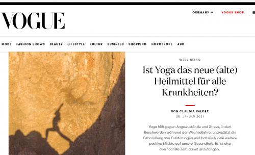 Vogue Yoga als Heilmittel | yogaguide News